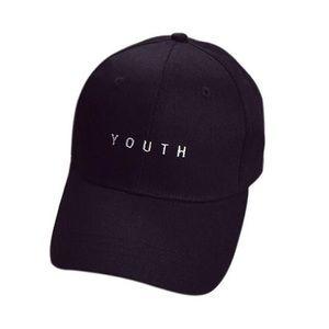 "Black ""Youth"" Dad hat"